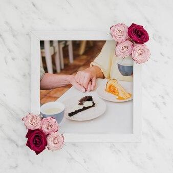 Frühstücksmodell-erinnerungsfoto