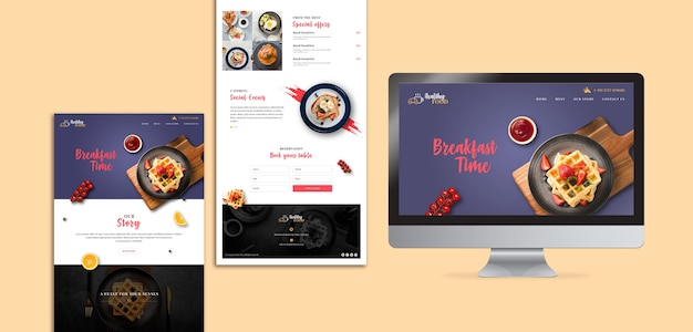 Frühstücksrestaurant landing page vorlage
