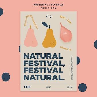 Fruit day poster vorlage