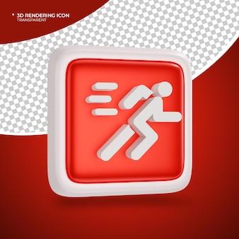 Führen sie 3d-render-symbolzeichen oder -symbole aus