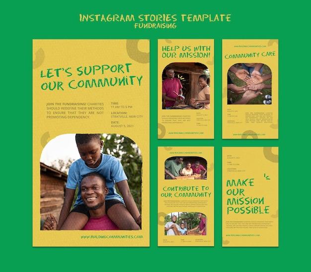 Fundraising-geschichten in den sozialen medien