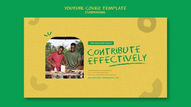 Fundraising-youtube-cover-vorlage