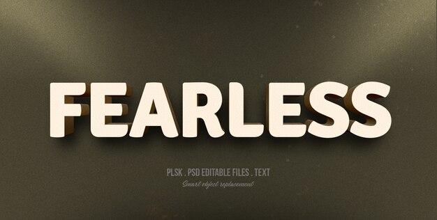 Furchtloses art-effektmodell des textes 3d