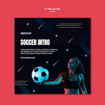Fußball flyer vorlage thema