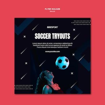 Fußball flyer vorlage