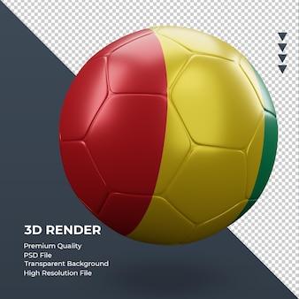 Fußball-guinea-bissau-flagge realistische 3d-rendering linke ansicht