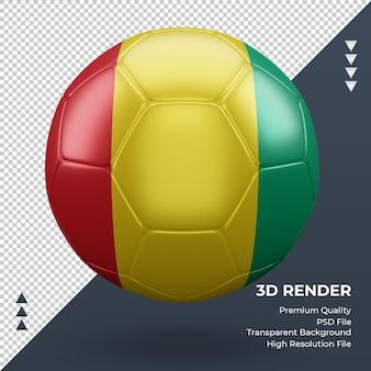 Fußball-guinea-bissau-flagge realistische 3d-rendering-vorderansicht