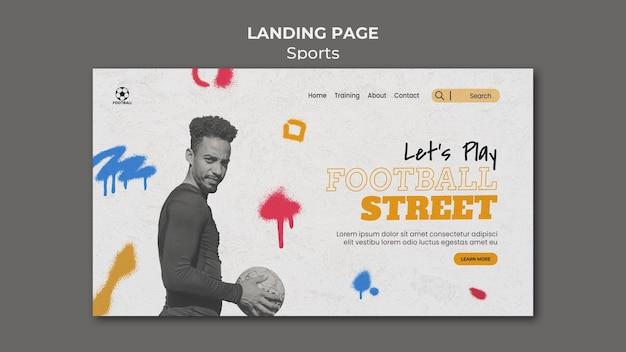 Fußball sport landing page vorlage