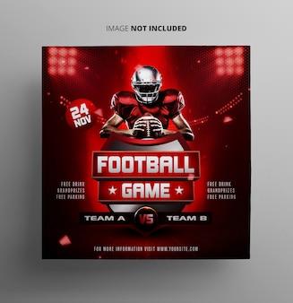 Fußball-sportereignis flyer vorlage