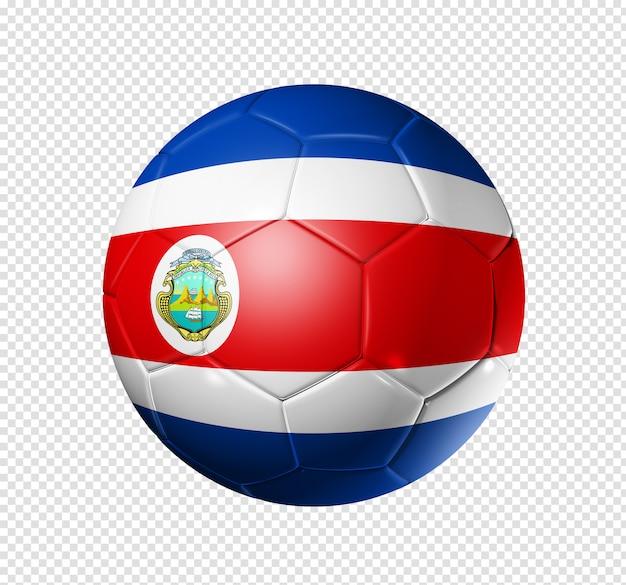 Fußballfußball mit costa rica flagge