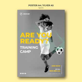 Fußballverein trainingslager plakat