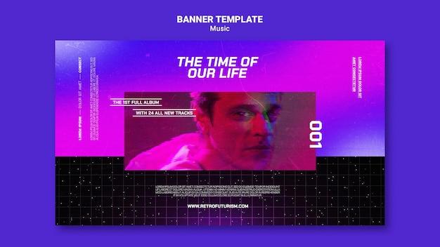 Futuristische musik-banner-vorlage