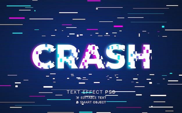 Futuristischer glitch-texteffekt