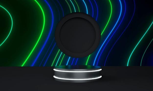 Futuristischer sockel für displaydesign