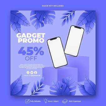 Gadget-beitragsvorlage für soziale medien