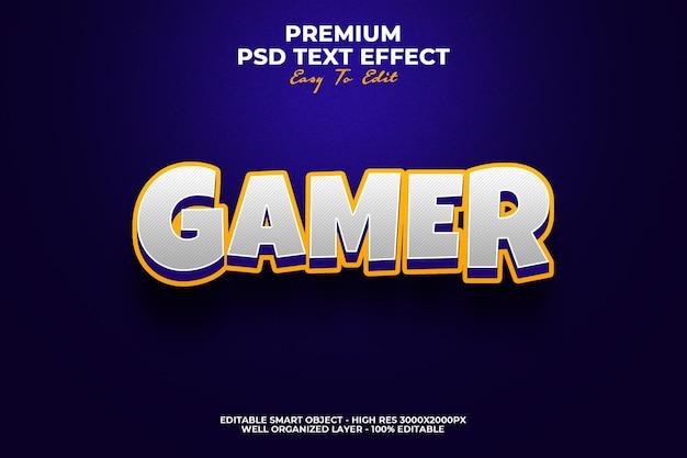 Gamer 3d-textstileffekt