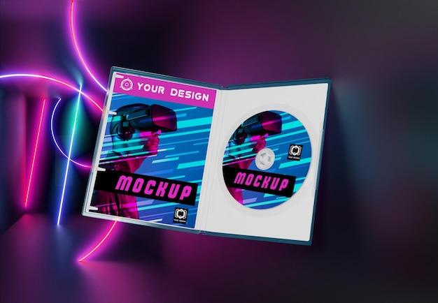 Gaming abstrakte verpackung und cd-modell