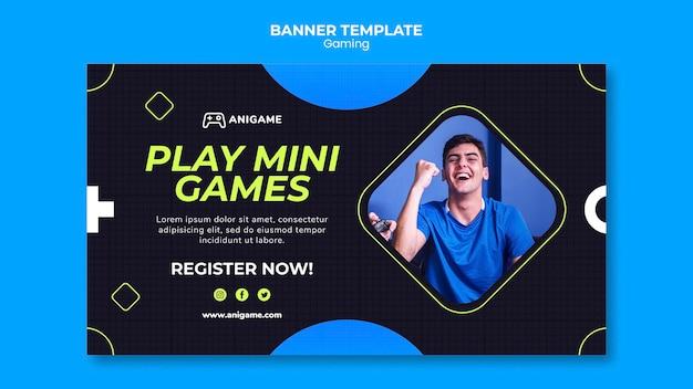 Gaming-konzept banner vorlage stil