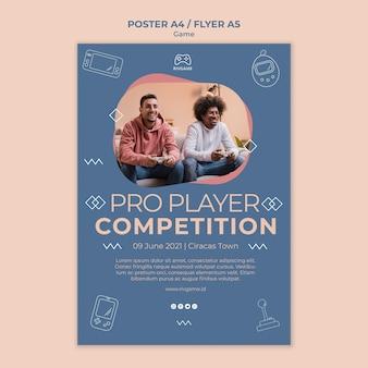 Gaming-konzept poster vorlage