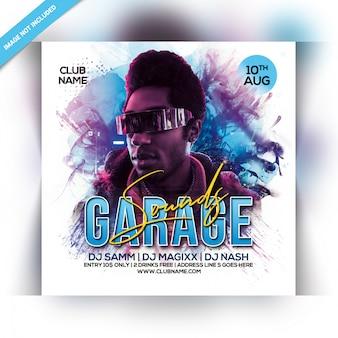 Garage klingt party flyer