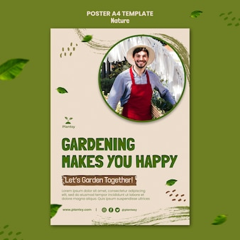 Garten hobby poster vorlage