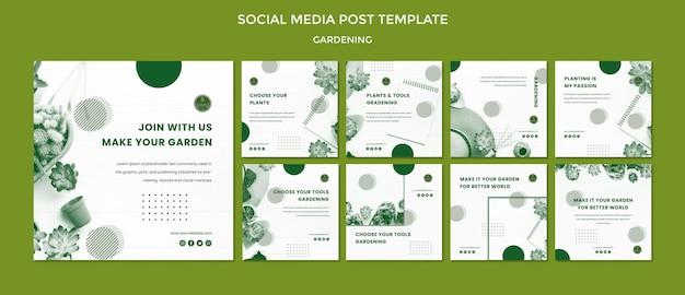 Gartenarbeit social media post