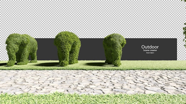 Gartenhecken in elefantenform gartenweg