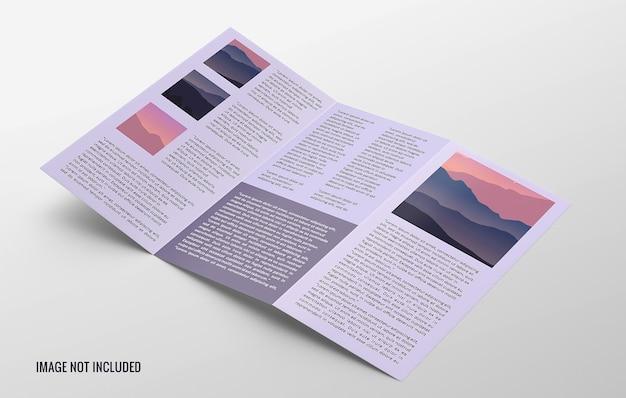 Gate fold broschüre modell