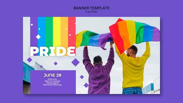 Gay prinde konzept banner vorlage