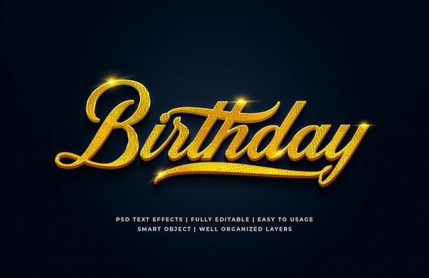 Geburtstag 3d text style effekt