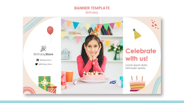 Geburtstag banner vorlage