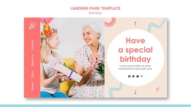 Geburtstags-landingpage