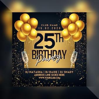 Geburtstagsfeier flyer
