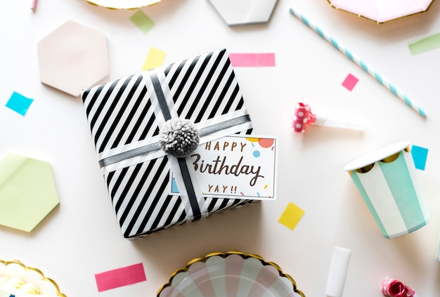 Geburtstagsfeier-konzept