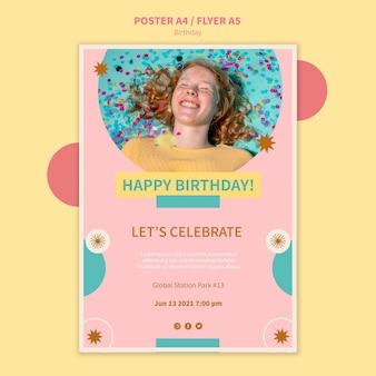 Geburtstagsfeier-plakatschablone