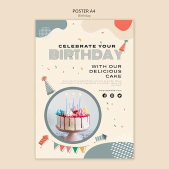 Geburtstagsfeier poster vorlage