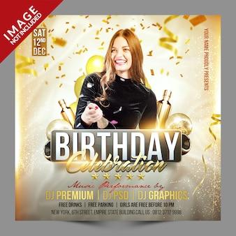 Geburtstagsfeier social media promotion