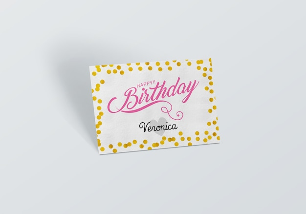 Geburtstagskarte mock up