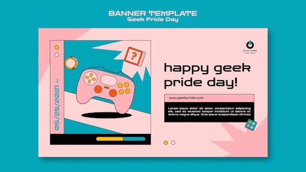 Geek pride day banner vorlage
