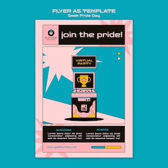 Geek pride day flyer vorlage