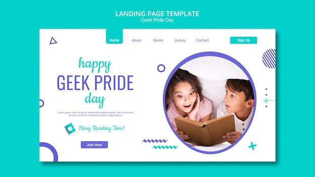 Geek pride day landingpage vorlage