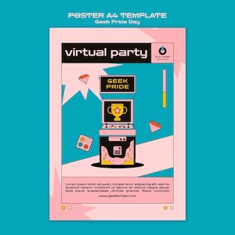 Geek pride day poster vorlage