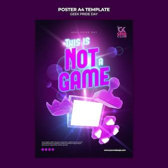 Geek pride day poster vorlage Kostenlosen PSD