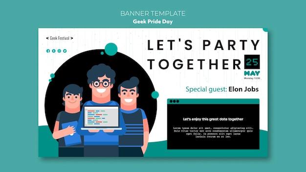 Geek stolz tag banner design