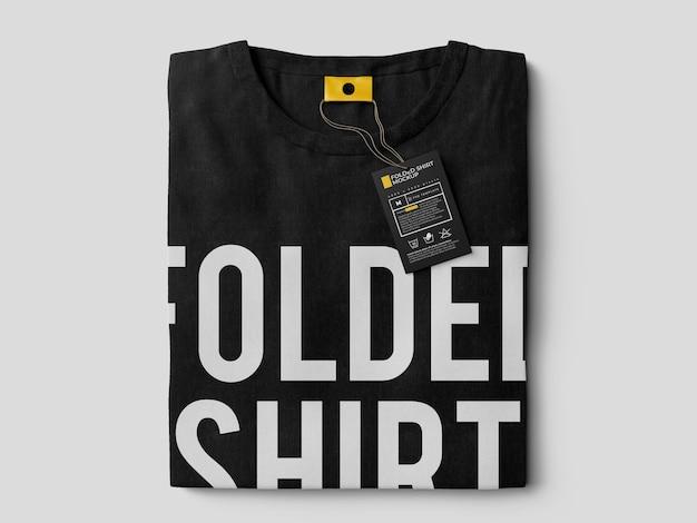 Gefaltete t-shirt mockup vorlage