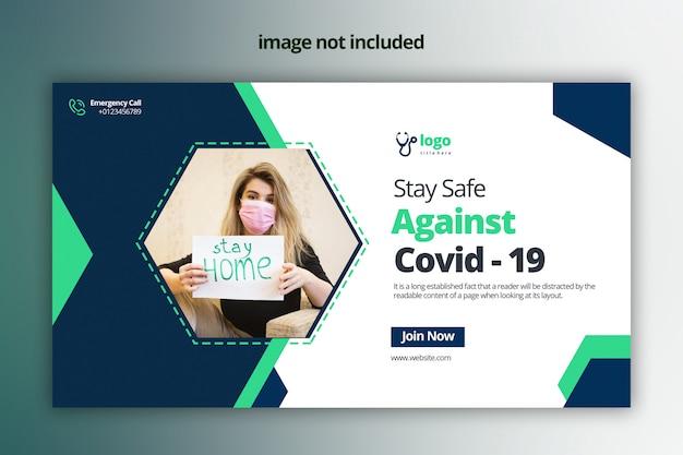 Gegen covid -19 web-banner-design