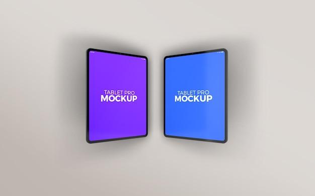 Gekipptes double large tablet pro mockup