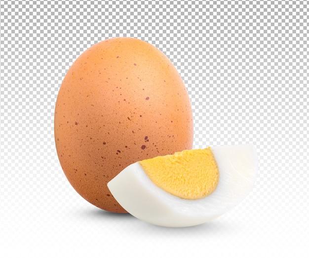 Gekochtes ei isoliert