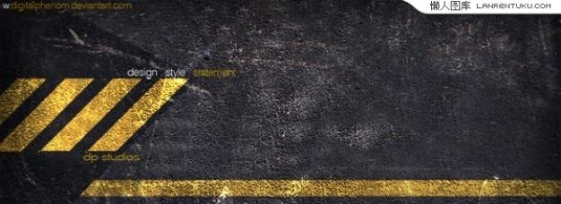 Gelb cordon mit grunge-stil in einer psd