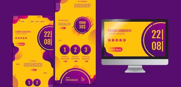 Gelbe computervorlagen des musikfestivals